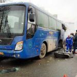 В Москве загорелся экскурсионный автобус, перевозивший школьников