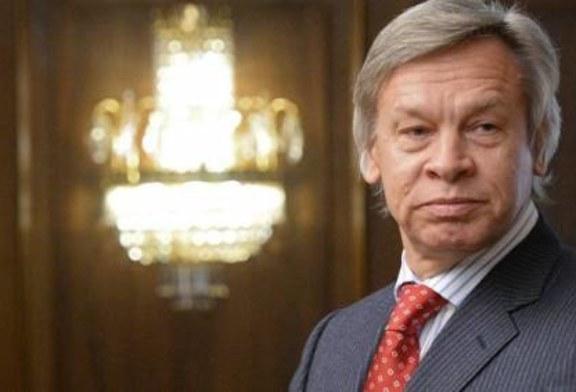 Пушков назвал цинизмом обращение Порошенко к жителям Донбасса