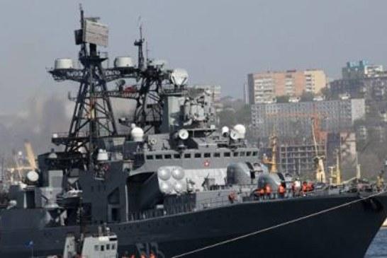 Пожар на противолодочном корабле «Маршал Шапошников» потушен