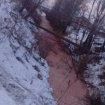 В преддверии ночи кровавой луны река в Тюмени окрасилась красным