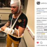Лидер группы «Градусы», разбившийся на такси, выложил видео травм
