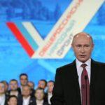 Владимир Путин поздравил ОНФ с пятой годовщиной со дня создания