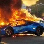Редкий Lamborghini превратился в пепел за минуту по нелепой случайности