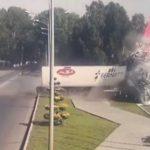 Попытался покинуть Омск: груженная сибирской водкой фура не смогла въехать в Новокузнецк