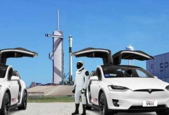 Космонавты прокатятся на электрокроссоверах Tesla по космодрому