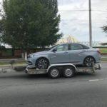 Папарацци поймали Lada Vesta Sport во время буксировки