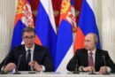 Путин покатал президента Сербии на своем Aurus по Белграду