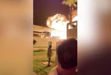 Появилось видео мощного взрыва в клубе в Перу