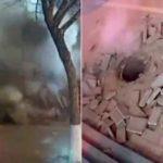 Подрыв канализации при помощи фейерверка в Китае попал на видео
