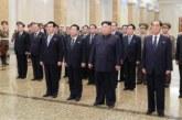 Ким Чен Ын посетил мавзолей в Пхеньяне и почтил память своего деда и отца