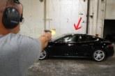 Знаменитый сокрушитель смартфонов расстрелял в упор бронированную Tesla (видео)