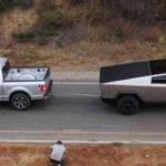 Tesla Cybertruck привязали канатом к Ford F-150 и устроили бессердечное соревнование (видео)
