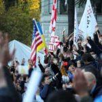 В митингах в Тбилиси приняли участие около 7 тыс. человек