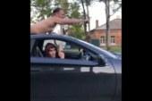 В Уссурийске поймали Toyota Celica с голым Суперменом на крыше