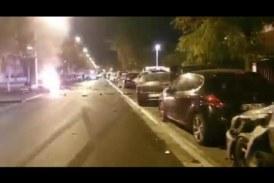 В Париже суперкар Audi R8 Spyder разбил 13 машин и эпично разорвался