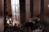 Опубликовано видео квартиры брошенной в Москве истощенной девочки