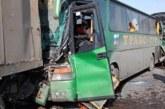 Два автобуса и грузовик столкнулись в Калмыкии